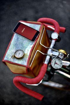 Sträva speedometer altimeter watch map vintage bicycle touring