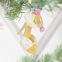Disney Store Belle Shoe Ornament