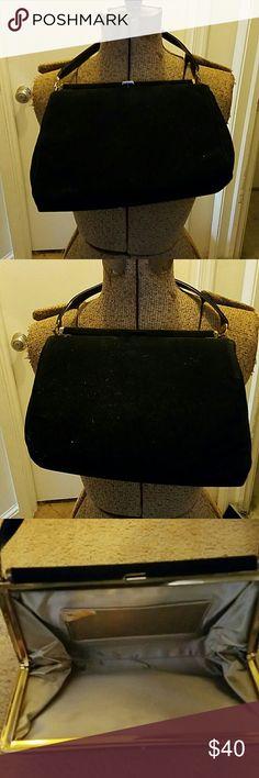 Black clutch purse silky lining. Great condition Black clutch purse. Perfect for a night out. Silky lining inside.  No tears. mar-shel handbag Bags Clutches & Wristlets
