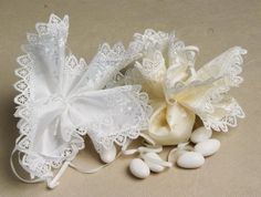 "10"""" in Ivory or White Satin Deluxe 100 pc bag"