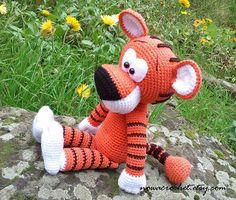 Tiger Walter  amigurumi PDF crochet pattern di Nowacrochet su Etsy, €4.50