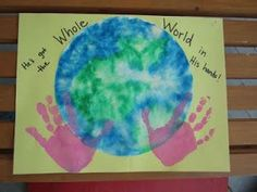 Coffee filter and handprints for Earth Day