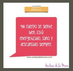 Afirmación salud 4 jun 3 | Andrea de la Mora