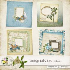 Vintage Baby Boy Album by Linda Cumberland