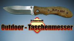 Schwarzwolf Outdoor Taschenmesser mit Echtholzgriff