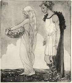 Loke and Idunn (1911) by John Bauer
