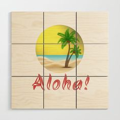 Aloha Hawaii Summer Vibes Cool Holiday Outfits and Home Decor Designs Wood Wall Art by Palm Trees Beach, Beach Wood, Interior And Exterior, Interior Design, New Perspective, Inspirational Gifts, Holiday Outfits, Wood Design, Wood Wall Art
