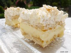 Greek Pastries, Candy Recipes, Vanilla Cake, Feta, Cheesecake, Deserts, Cooking Recipes, Sweets, Sugar
