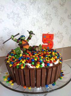 Teenage mutant ninja turtle inspired cake