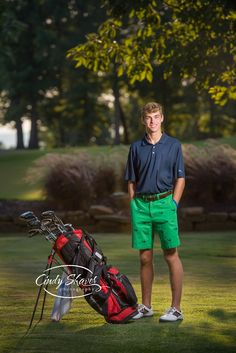 senior guy, golf themed senior pictures, off camera lighting, , outdoor senior portraits, Westminster Christian Academy seniors