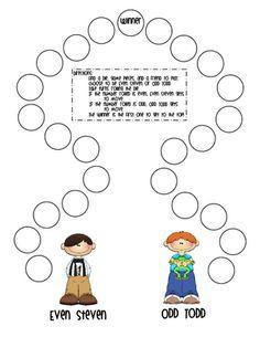 Even Steven/Odd Todd Game for teaching even and odd numbers Math Classroom, Kindergarten Math, Teaching Math, Teaching Ideas, Classroom Ideas, Classroom Organisation, Preschool Ideas, Teaching Tools, Fun Math
