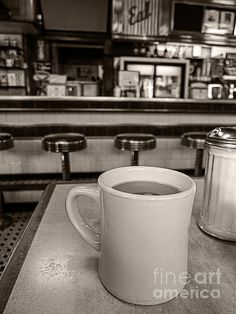 Coffee at a classic diner - Photography by Edward M. Fielding
