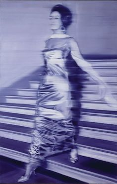 Woman Descending the Staircase   (Frau die Treppe herabgehend), 1965    Oil on canvas  198 x 128 cm (79 x 51 in.)  Roy J. and Frances R. Friedman Endowment;   gift of Lannan Foundation, 1997.176