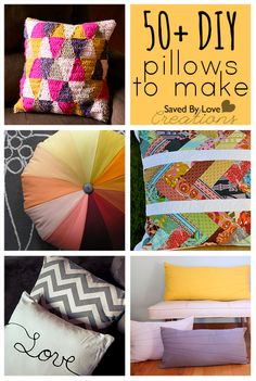 Over 50 Easy DIY Pillows to Make @savedbyloves http://savedbylovecreations.com