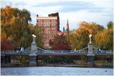 Footbridge at Boston Public Garden, Boston, Massachusetts