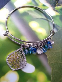 Bridesmaid crystal bracelets customized with your wedding colors by One World Designs Bridal Jewelry