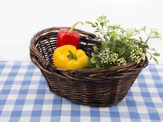One touch of nature makes the whole world kin. Vegetable Basket, Still Life Photos, Gift Baskets, Wicker, Stuffed Peppers, Bell Pepper, Basket Ideas, Flower Basket, Amazing Quotes