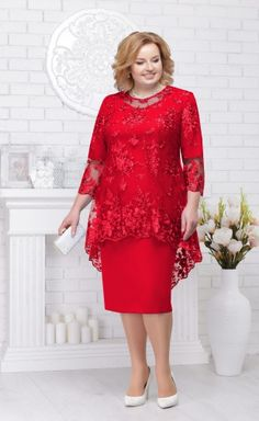 50s Dresses, Plus Size Dresses, Fashion Dresses, Girls Dresses, Dresses With Sleeves, Lace Dress Styles, Trendy Plus Size Fashion, Mom Dress, African Attire