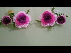 Rose model - very beautiful model - YouTub you wonder how it was made . - My Recommendations Knitted Shawls, Crochet Shawl, Knitted Poncho, Needle Lace, Ribbon Hair, Lace Making, Beaded Flowers, Craft Tutorials, Hand Embroidery