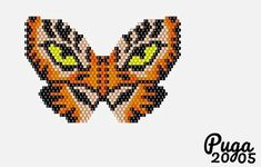 Bead Embroidery Jewelry, Beaded Embroidery, Peyote Patterns, Beading Patterns, Beaded Earrings, Beaded Jewelry, Beads Pictures, Beaded Animals, Butterfly Pattern