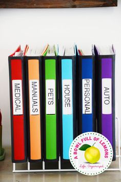 organization binders...this is a great idea