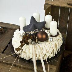 Filz | Adventskranz Tannenzapfen - die.waschkueche