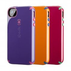 Our CandyShell cases for iPhone 4S/4 will help your phone stand up to gravity and give it a pop of color!