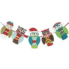 Holiday Owl Garland