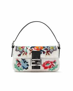 Baguette Floral Needlepoint Bag by Fendi at Neiman Marcus.