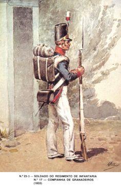 Portugal; 17th Infantry Regiment, Grenadier, 1833