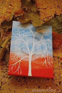 Abstract autumn background wih sketch border
