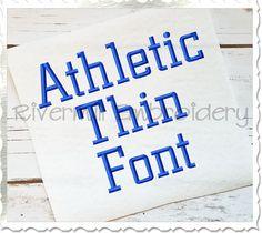 $3.95Athletic Block Thin Machine Embroidery Font Alphabet