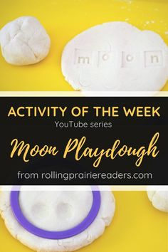 """This week's activity comes from our Space Body Family Activity Guide. Explore """"moon"""" playdough with cookie cutters and letter stamps for a tactile learning experience! Space Activities For Kids, Creative Activities, Indoor Activities, Hands On Activities, Hands On Learning, Learning Through Play, Learning Letters, Science Projects, Toddler Preschool"""