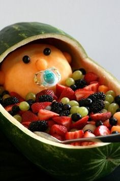 Bow Tie Baby Shower   Maybe A Teddy Baby Fruit Salad?