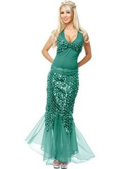 Green Mermaid Costume (more details at Adults-Halloween-Costume.com) #  sc 1 st  Pinterest & 136 best Meerjungfrauen Little mermaids images on Pinterest ...