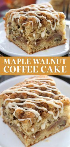 Dessert From Scratch, Cake Recipes From Scratch, Easy Cake Recipes, Sweet Recipes, Baking Recipes, Maple Dessert Recipes, Sour Cream Cake Recipe From Scratch, Syrup Recipes, Brunch Recipes
