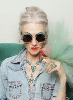 this is how i want to dress when i grow old. haha she is so cool. The Spectacular Women of 'Advanced Style' Model for Karen Walker. photos by Ari Seth Cohen