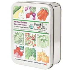 Give kids something to get them outdoors & into the garden. We have a special Perfect For Kids section in our Garden Gifts . How about this My First Garden Gift Seed Tin, with 10 of our organic, non-GMO seed packs? Start a new gardener, of any age, down the garden path. www.GrowOrganic.com