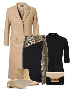 Office outfit: Black - Beige - Animal Print by downtownblues on Polyvore