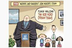 Toronto Star editorial cartoon for June 5, 2013, by Theo Moudakis. #RobFord #politics #funny