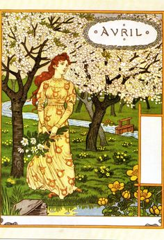 Time for La Belle Jardiniere !  Avril ,1896 by Eugene Grasset   another one from Bob Young