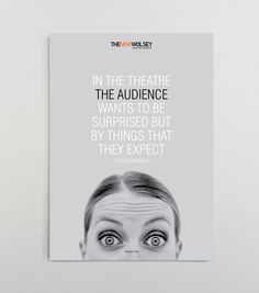 The New Wolsey Theatre Summer 2009 Campaign by Carlie Templeman, via Behance