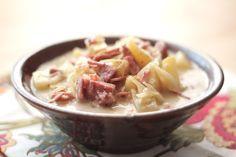 Reuben Soup - all the flavors of the Reuben Sandwich in a steaming hot bowl of soup, perfect for these chilly nights.