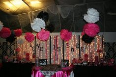 Cake Table and Candy Buffet Area Decorations Maybe