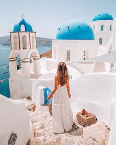 Best Photos of Santorini, Greece, Oia Greece Vacation, Greece Travel, Oh The Places You'll Go, Places To Travel, Greece Girl, Greece Style, Greece Outfit, Greece Pictures, Foto Instagram