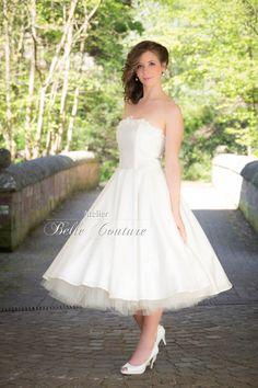 """Brautkleider - 50er Jahre Petticoat Brautkleid """"Kathinka""""  - ein Designerstück von atelier-belle-couture bei DaWanda"""