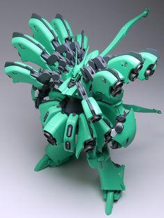 """AMX-103K Hamma-Hamma """"Kanon"""". Done by """"amethyst002"""" in 1:144 scale. A GunPla entry for the 13th All-Japan Champoinship Orazuku. #Gundam #GunPla"""