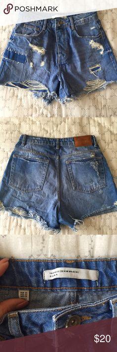 Zara High Waisted Shorts Never worn Zara Shorts Jean Shorts