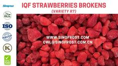 Sinofrost - Frozen Strawberries R7 Variety Supplier- IQF Strawberries R7... Strawberry Puree, Frozen Strawberries, Food, Eten, Meals, Freezing Strawberries, Diet