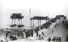 Pictures of Daddy Long Legs Railway Brighton and Rottingdean Seashore Electric Railway 1896 Abandoned Castles, Abandoned Mansions, Abandoned Places, Brighton Sea, Brighton And Hove, Daddy Long, Abandoned Amusement Parks, Local History, East Sussex